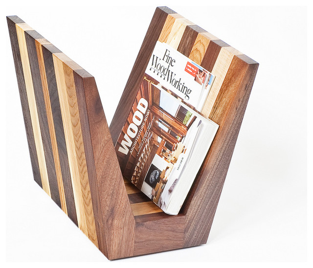 Magazine rack by cherrywood studio contemporary