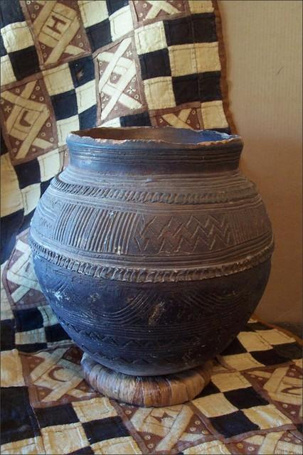 Fleur-de-Lis Flea Find ~ Nupe African Clay Pot eclectic-indoor-pots-and-planters
