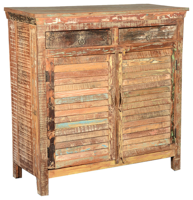 Ritter 2 Shutter Door Reclaimed Wood Storage Cabinet Buffet eclectic-buffets-and-sideboards