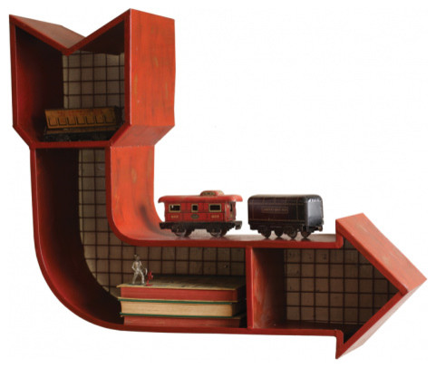 Red Metal Arrow Cubby - Eclectic - Wall Shelves - by High Camp Home