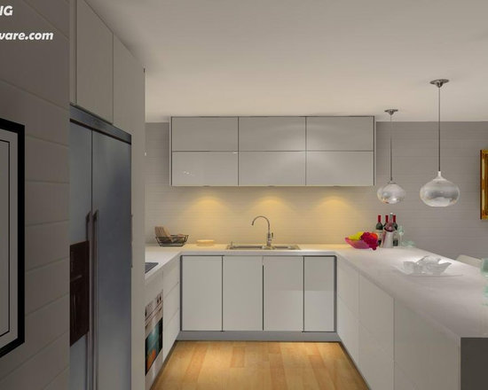 kitchen cabinet 017 - design free, customized, top quality, with bench top and top stainless steel sink