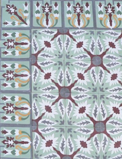 Cuban Heritage Design eclectic floor tiles