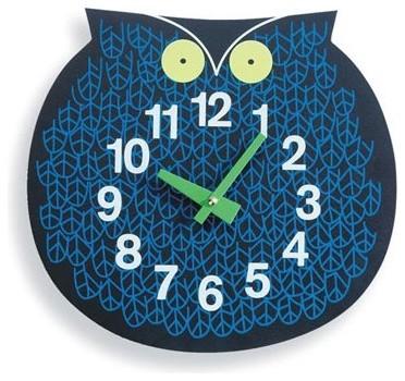 Zoo Timers Wall Clocks - Omar the Owl modern-kids-clocks