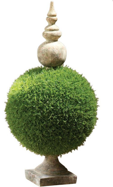 Moss Sphere Topiary II traditional indoor pots and planters