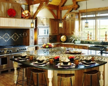 Timeframe home in Colorado traditional-kitchen