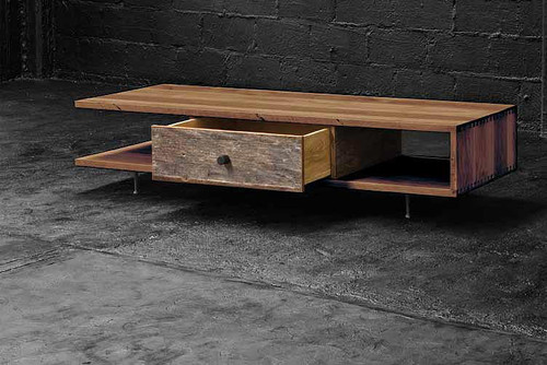 contemporary coffee tables Reclaimed Wood Coffee Table
