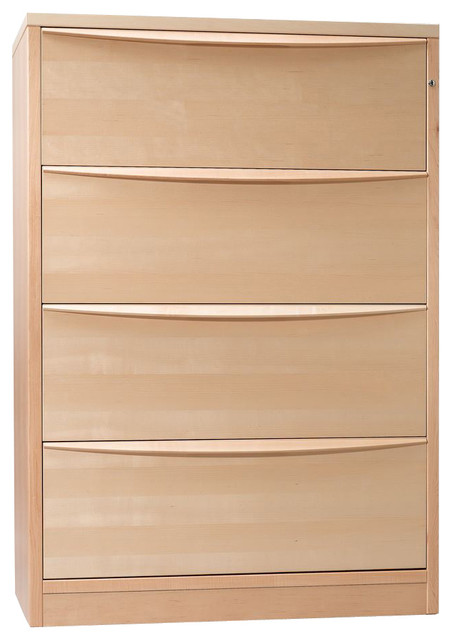 Jesper Lateral File Cabinet W/ 4 Drawers - Maple - Modern - Filing Cabinets - by Edgewood Ave