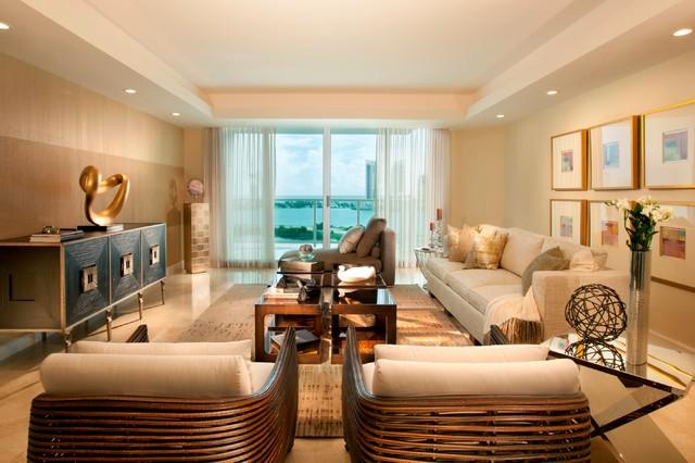 Elegant Escape modern-family-room