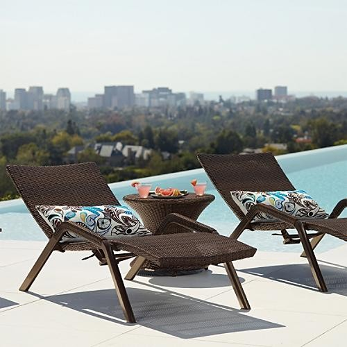 Set of Two Lugano Outdoor Chaise Lounges traditional-outdoor-chaise-lounges