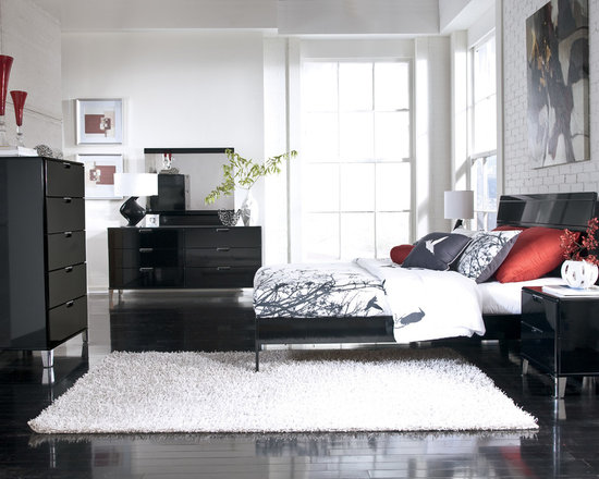 Bedrooms Furniture - Metro Modern Black Master Bedroom Set