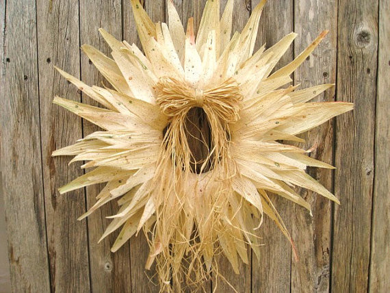 Fall Wreath Autumn Wreath Cornhusk Starburst by AWorkofHeartSA wreaths-and-garlands
