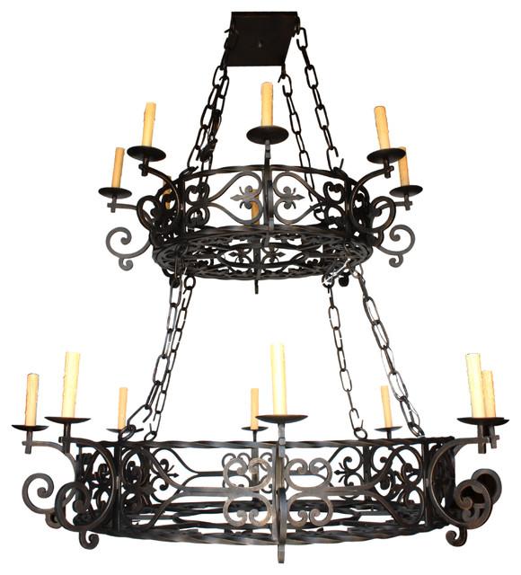 Ch 124 new hand made chandelier design mediterranean for Hacienda style lighting