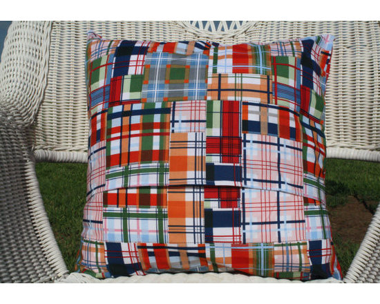 Going Coastal Plaid Pillow Cover by Designs by Christy -
