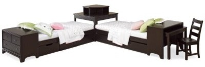 Midtown 2 Twin Beds Study Suite modern-beds