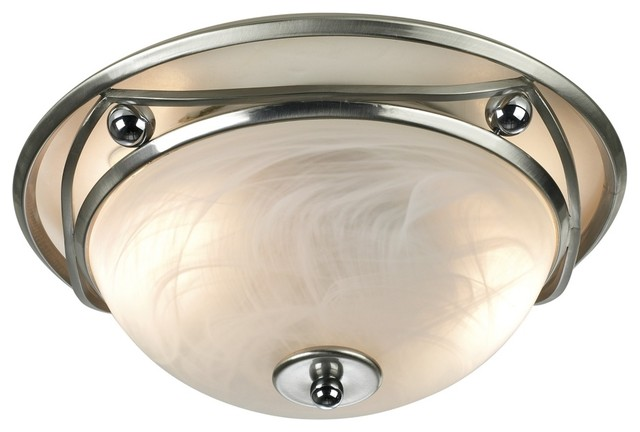 """Art Deco Ball and Wave Flushmount 13"""" Wide Ceiling Light Fixture contemporary-ceiling-lighting"""