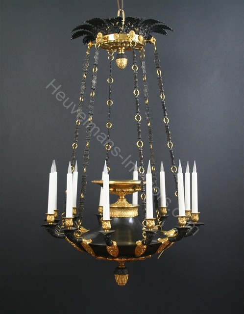Monumental Chandeliers by Heuvelmans Interiors traditional-chandeliers