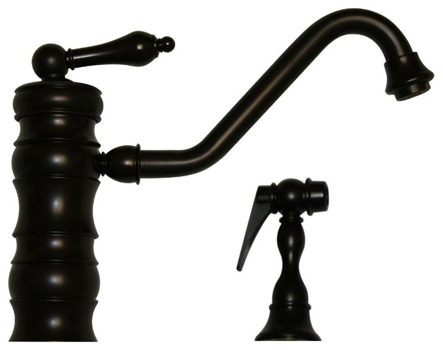 Vintage III Single Faucet Traditional Swivel Spout w Solid Brass Side Spray