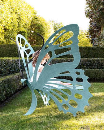 Butterfly Bench traditional-outdoor-stools-and-benches
