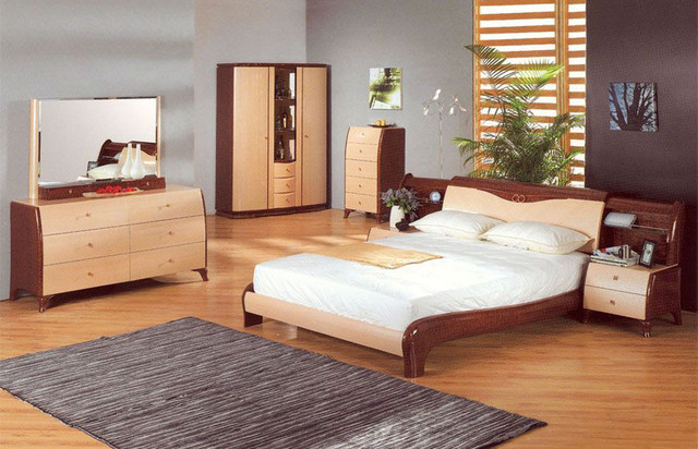 Elegant Wood Elite Modern Bedroom Sets With Extra Storage