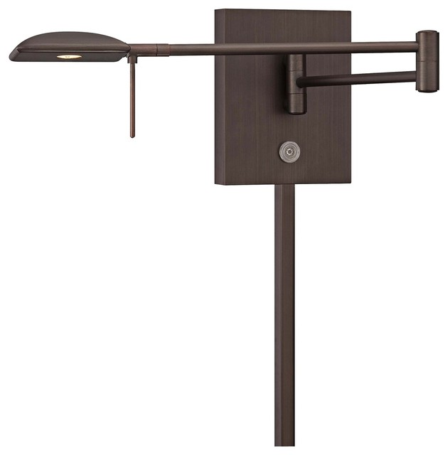 Contemporary Wall Lamps Swing Arms : George Kovacs Square Head LED Bronze Swing Arm Wall Lamp - Contemporary - Swing Arm Wall Lamps ...