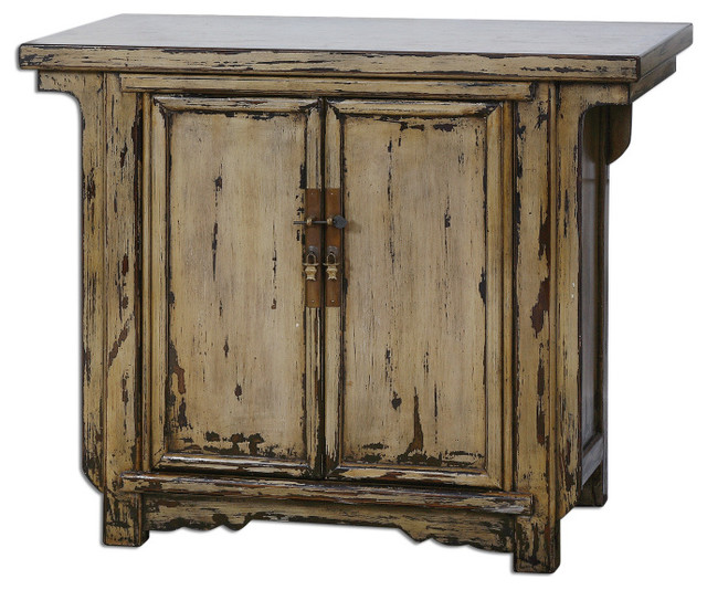 Rafiq Antique Console Cabinet traditional-side-tables-and-end-tables