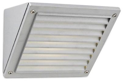 "Contemporary DARK SKY Silver Finish 6"" High Outdoor Wall Light contemporary-outdoor-lighting"