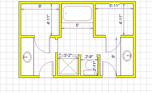 Who 39 s right for 7 x 10 master bathroom layout
