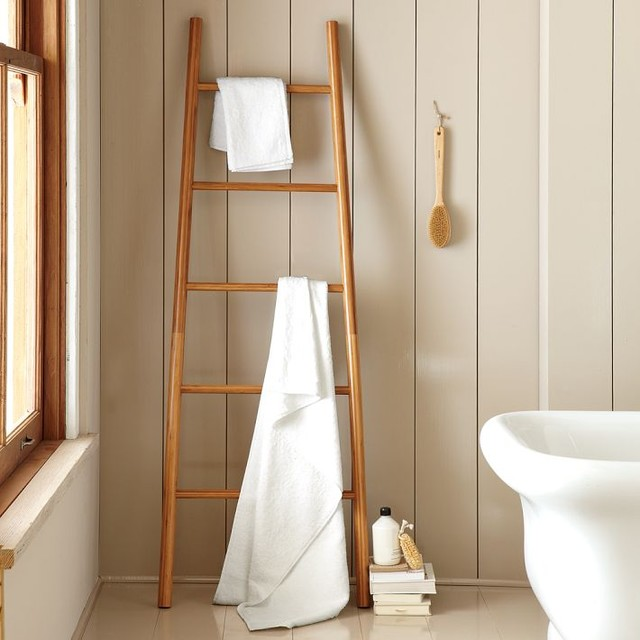bamboo ladder modern bathroom accessories by west elm. Black Bedroom Furniture Sets. Home Design Ideas