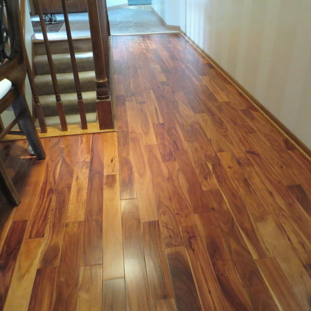 Solid Acacia Stain Smooth/ Prefinished traditional-hardwood-flooring