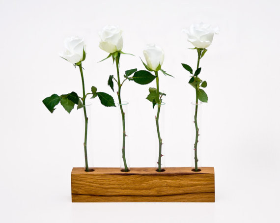 Wood Vase by Less & More contemporary-vases