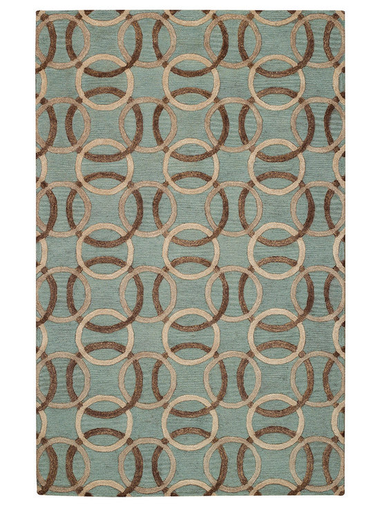 Graphique Ringlets rug in Seaglass -