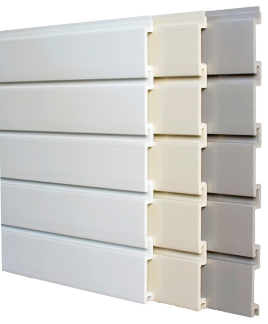 4' Standard Duty Peice-Wall, Dover White contemporary-display-and-wall-shelves