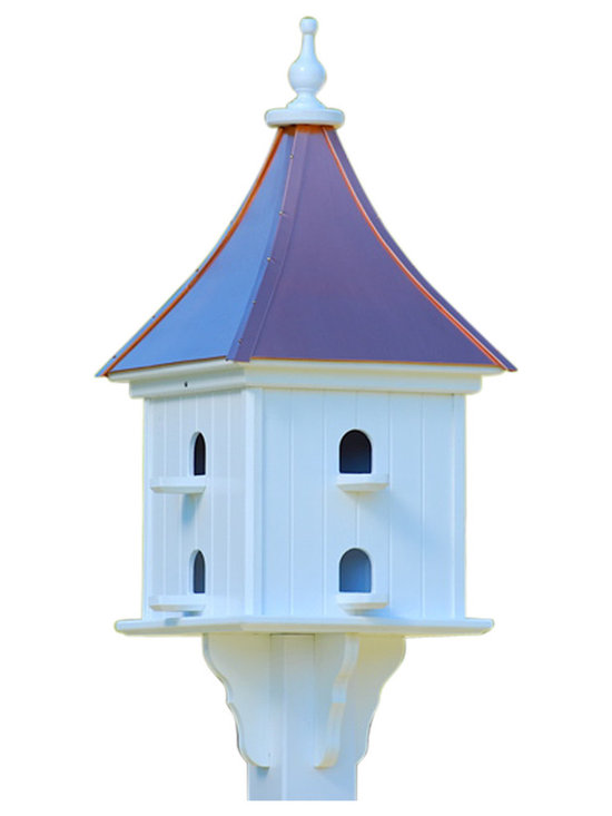 Purple Martin Copper/Vinyl Birdhouse - This appealing abode entices birds to … fly away home. When you set this up in your outdoor space, you give them a solid roof over their heads — and comfortable places to perch and hang out — just like any loving guardian.