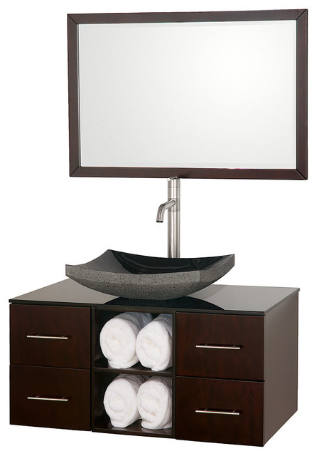 Abba 36in. Bathroom Vanity Set - Espresso modern-bathroom-vanities-and-sink-consoles