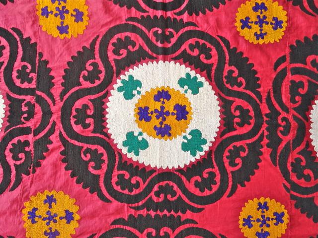 Vintage Suzani mediterranean-throws