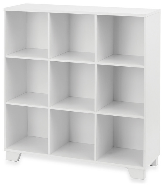 Real Simple 9-Cube Storage Unit, White - Transitional - Bookcases - by Bed Bath & Beyond