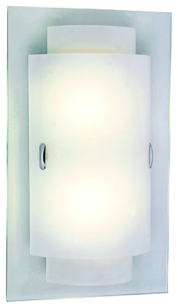 Double RectanglEnergy Saving Two-Light Wall Sconce -Polished Chrome contemporary-wall-lighting