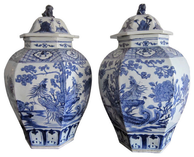 Pair of huge vintage chinese ginger jars asian home for Oriental accessories