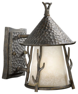 Woodland Autumn Patina 7-Inch Outdoor Wall Light traditional-outdoor-lighting