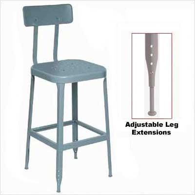Lyon - 1928 - 26 Stool-Steel Seat and Back with Adjustable Leg Extensions eclectic bar stools and counter stools