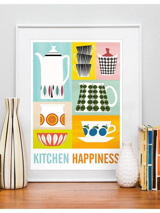 Art for kitchen Mid century poster kitchen art Stig by handz -