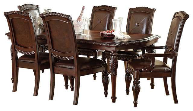 Steve Silver Antoinette 7 Piece Leg Dining Room Set in  : traditional dining sets from www.houzz.com size 640 x 368 jpeg 79kB