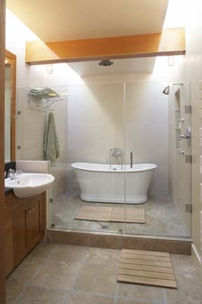 Gary earl parsons architect eclectic bathroom san for Wet area bathroom ideas