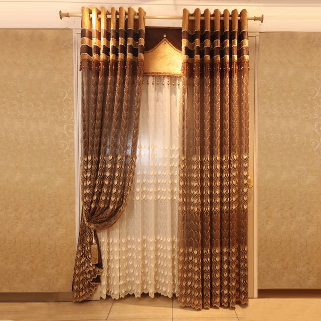 Customized Curtains in Golden Color curtains