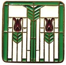 Prairie Tulip Knob Spring Green craftsman-cabinet-and-drawer-knobs