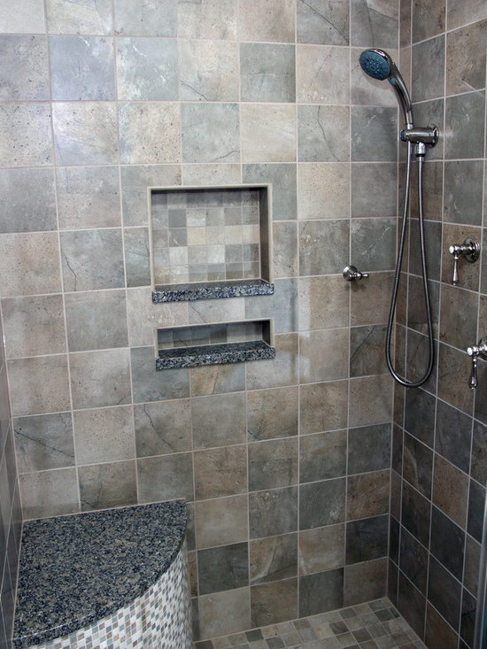Bathroom Remodel - A niche with tile and granite