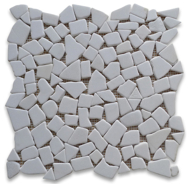 Rocks Pebble Stone Mosaic Tile Tumbled Traditional Wall And Floor Tile