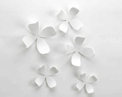 Umbra Wall Flowers Set contemporary-wall-decals