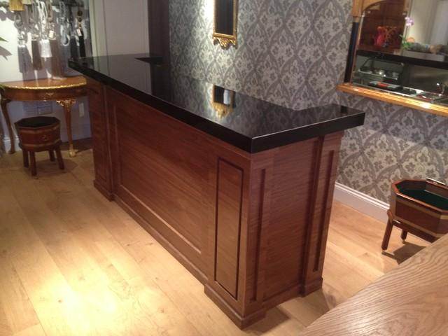Wooden home bar bespoke bar design traditional london by bar specialists ltd - Wood bar designs ...