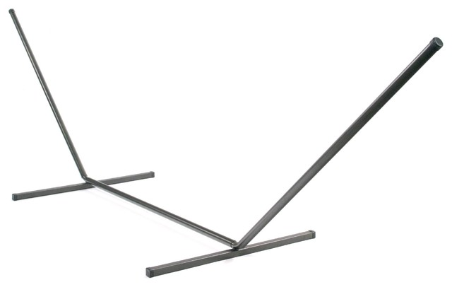 Siesta Key Premium Metal Double Hammock Stand - Bronze modern-hammock-stands-and-accessories